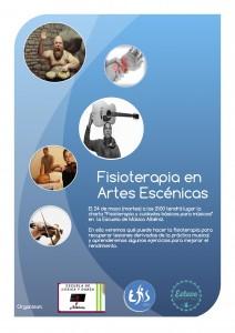 Cartel fisio artes escenicas